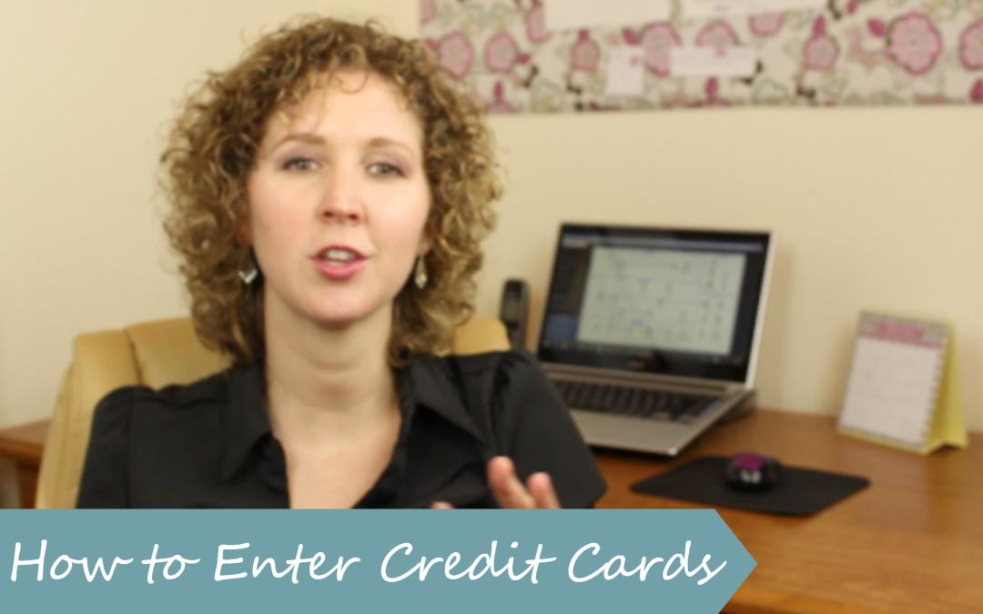 Entering Credit Cards