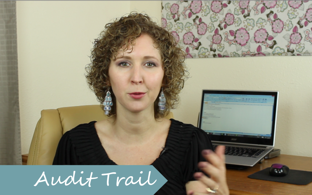 How to use the Audit Trail
