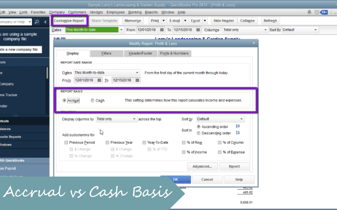 Cash vs Accrual why does it make a difference?