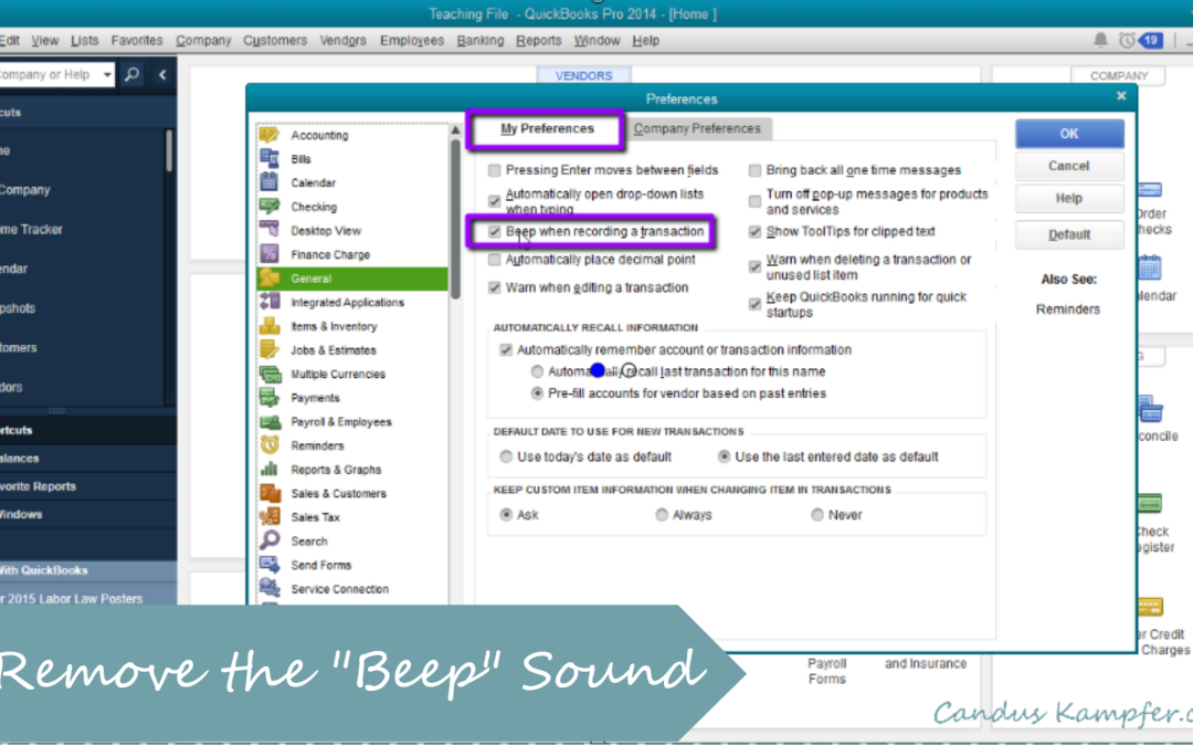 How to Remove Beeping Sound from QuickBooks