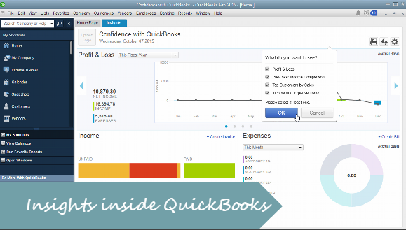 How to use Insights in QuickBooks