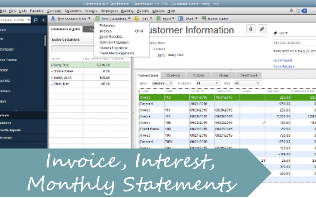 Create A Invoice Charge Interest Monthly Statement In QuickBooks - Quickbooks invoice installments
