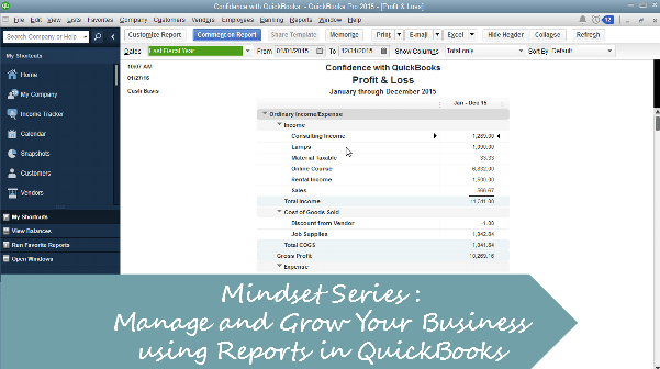 Mindset Series: Managing and Grow Your Business using Reports