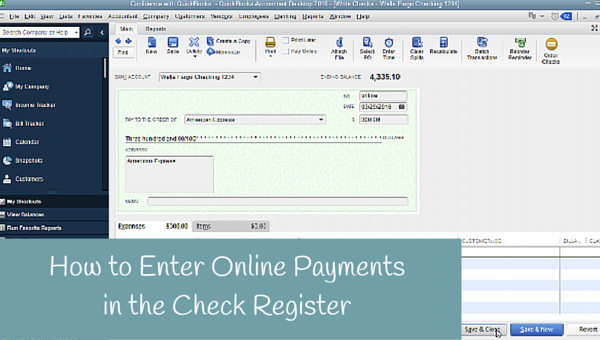 How to Enter Online Payment in QuickBooks