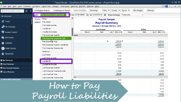 How to Pay Payroll Liabilities