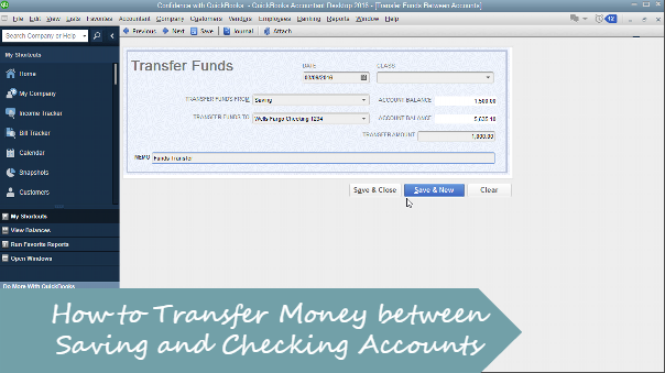 How to Transfer Money between Checking and Savings Accounts