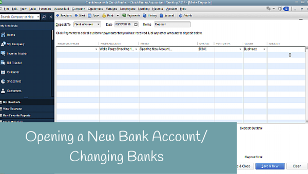 Opening a New Bank Account, Switching Banks