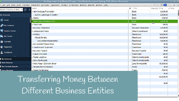 Transferring Money Between Different Entities