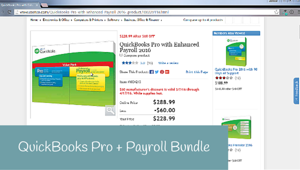 QuickBooks Pro and Enhanced Payroll Bundle