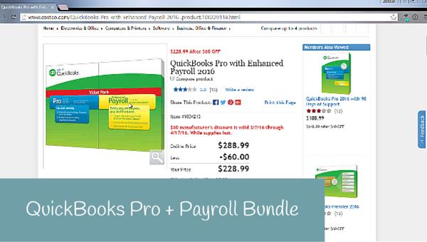QuickBooks Pro and Enhanced Payroll Bundle