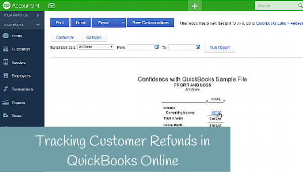 How to enter a refund for a Customer in QuickBooks Online