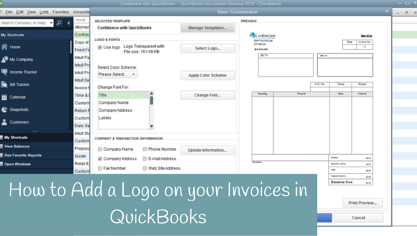 How to add a logo to your invoices