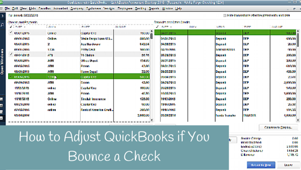 How to Adjust QuickBooks if you Bounce a Check