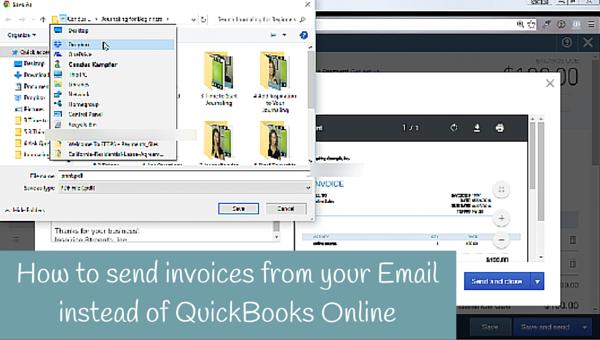 Sending Invoice from QuickBooks Online