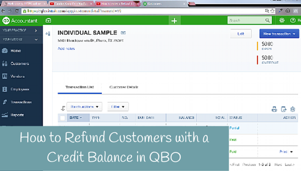 How to refund customers with a credit balance
