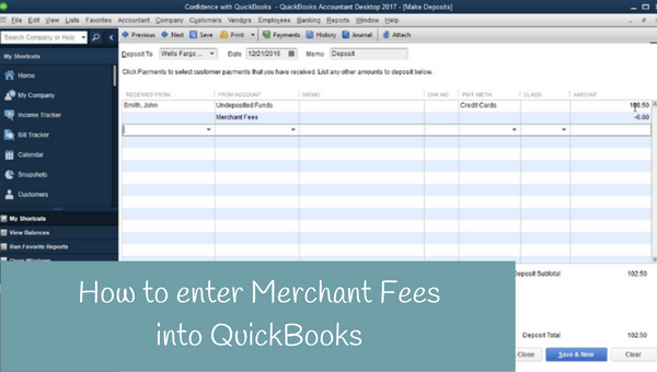 How to enter merchant fees into QuickBooks
