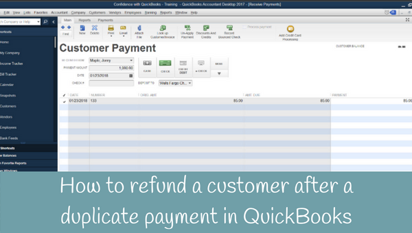 How to refund a customer after a duplicate payment