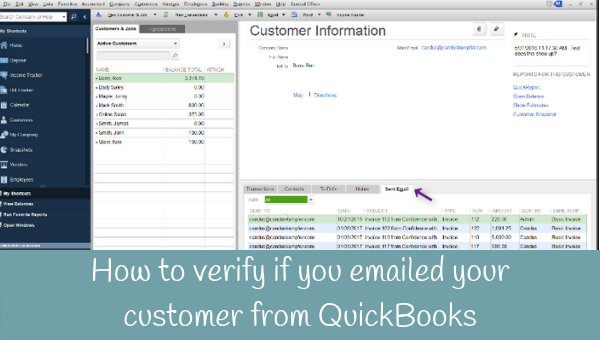 How to verify if you emailed your customer from QuickBooks