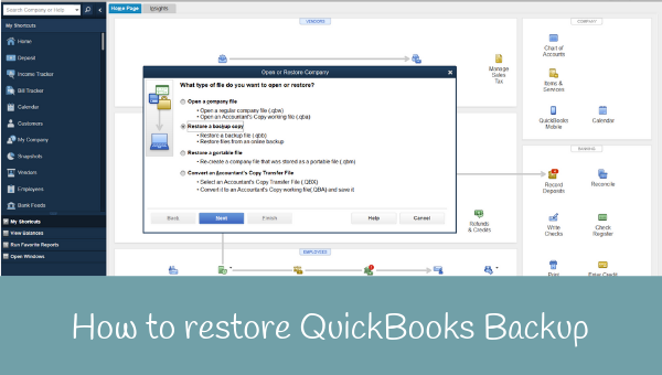 How to Restore QuickBooks from a Backup
