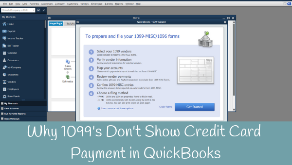 Why 1099's don't show when a Vendor is paid with a Credit Card in QuickBooks