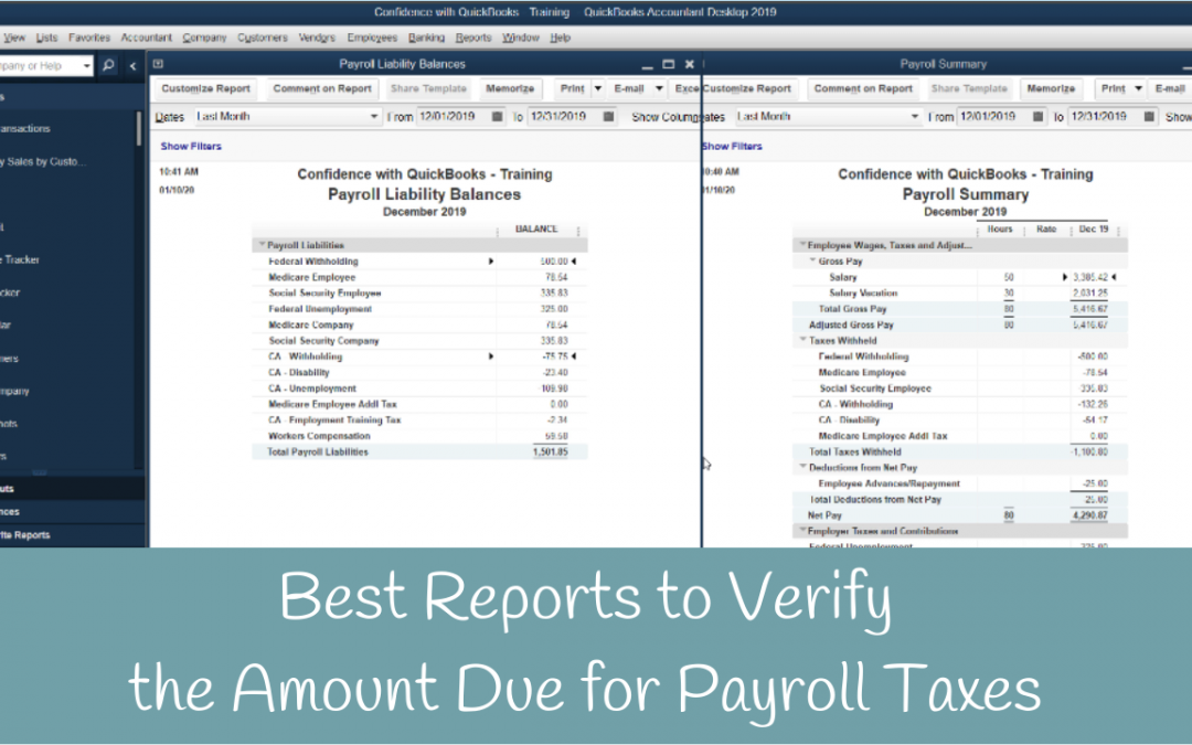 How to verify the correct payroll tax amount to pay in QuickBooks