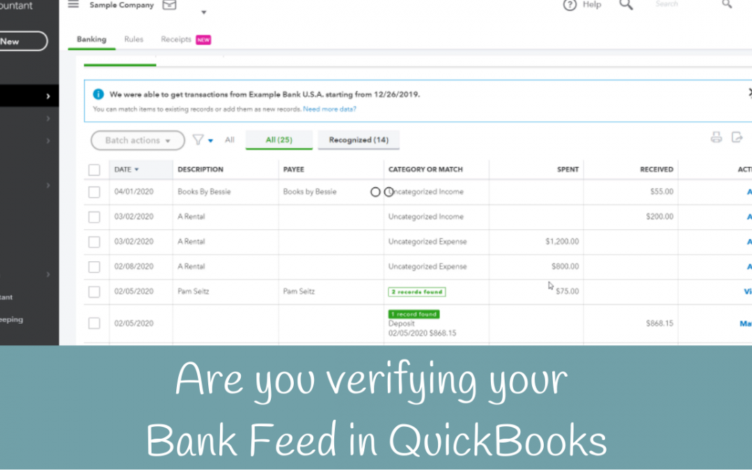 Do you need to reconcile if you're using the Bank Feed in QuickBooks