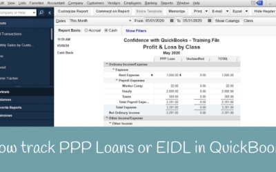 How to add and track PPP Loans in QuickBooks