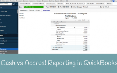 Cash vs Accrual Reporting in QuickBooks