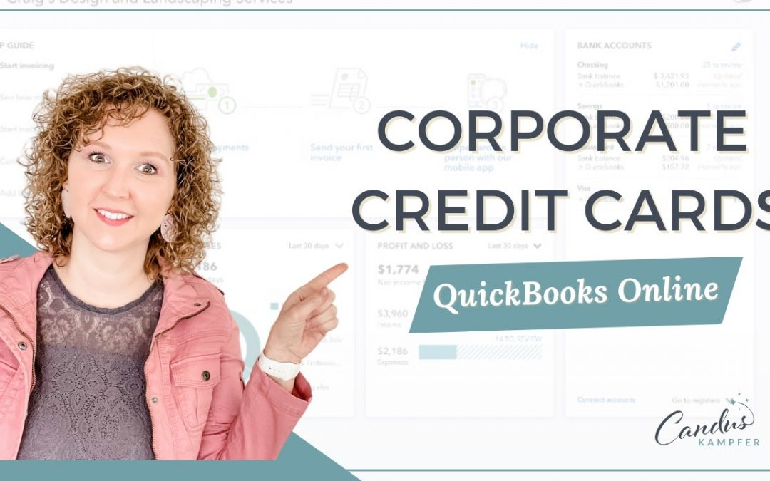 How to track corporate credit card in QuickBooks Online