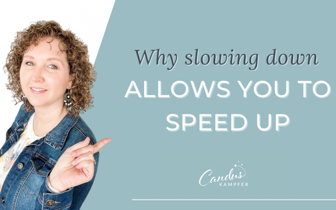 Why slowing down allows you to speed up
